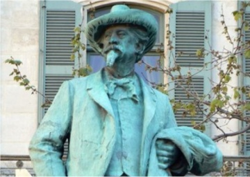 Frederic Mistral statue in Arles, France