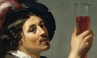 Young Man Drinking Wine (van Bijlert)