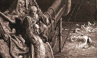 The Ancient Mariners gazes upon the serpents