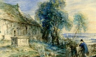 Scene in a Churchyard, John Constable