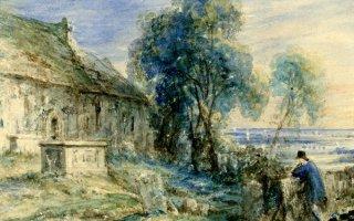 Scene in a Churchyard, John Constable