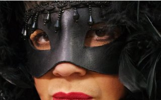 masked lady