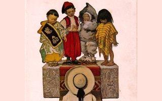 detail of Foreign Children by Jessie Wilcox Smith